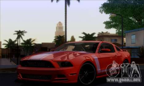 FF TG ICY ENB V1.0 para GTA San Andreas sucesivamente de pantalla