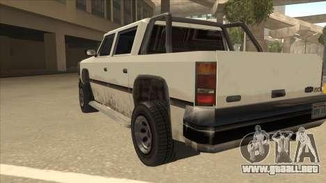 Declasse Rancher FXT para GTA San Andreas vista hacia atrás