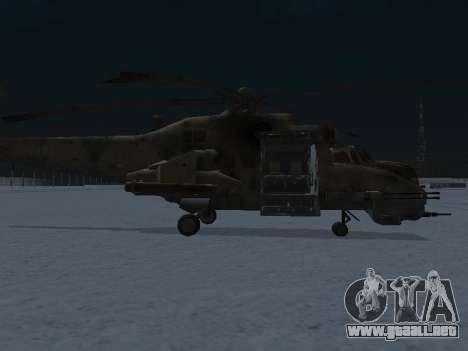 El MI-24p para GTA San Andreas vista posterior izquierda