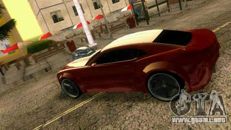 Chevrolet Camaro JR Tuning para GTA Vice City vista posterior