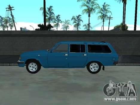 GAS 310221 para GTA San Andreas vista posterior izquierda