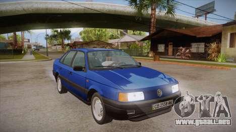 Volkswagen Passat B3 IVLM para GTA San Andreas vista hacia atrás