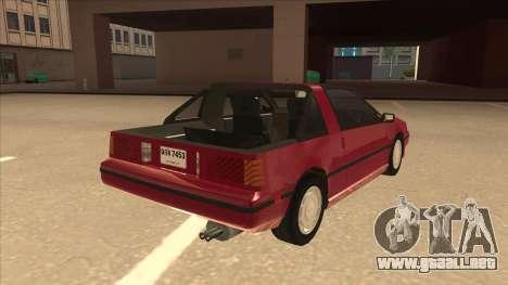 Nissan EXA L.A. Version para la visión correcta GTA San Andreas