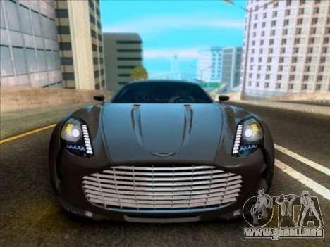 Aston Martin One-77 para visión interna GTA San Andreas
