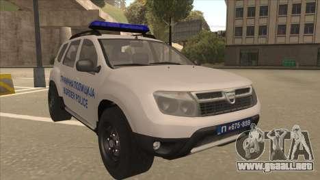 Dacia Duster Szkoła Granična fue para GTA San Andreas left