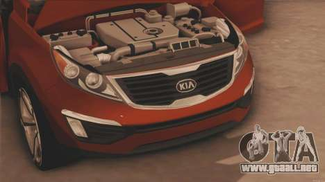 Kia Sportage para GTA San Andreas vista posterior izquierda