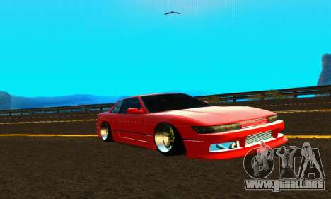 Nissan Silvia S13 HellaDrift para visión interna GTA San Andreas