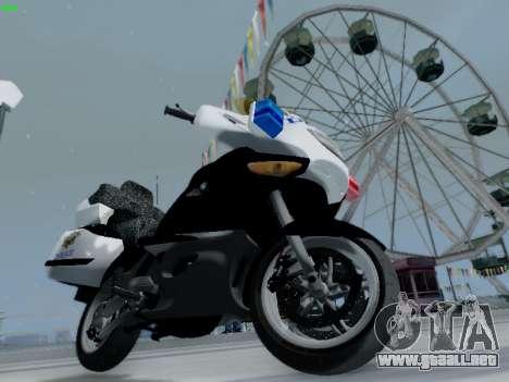 BMW K1200LT Police para la visión correcta GTA San Andreas