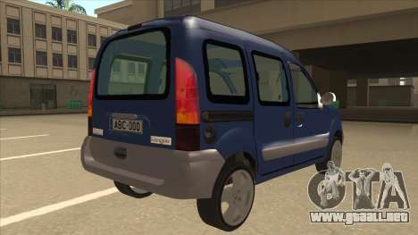 RENAULT KANGOO v2 para la visión correcta GTA San Andreas