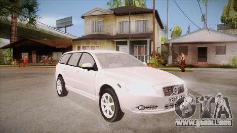 Volvo V70 Unmarked Police para GTA San Andreas vista hacia atrás