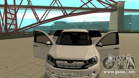 Lada Granta Limousine para GTA San Andreas vista hacia atrás