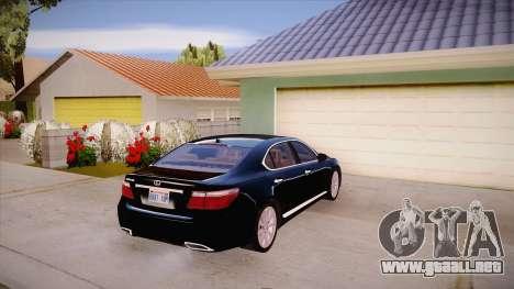 Lexus LS 600h L para la visión correcta GTA San Andreas