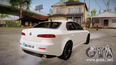Alfa Romeo 159 para la visión correcta GTA San Andreas