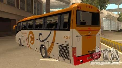 Higer KLQ6129QE - Yellow Bus Line A-001 para GTA San Andreas vista hacia atrás