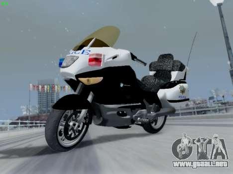 BMW K1200LT Police para GTA San Andreas vista hacia atrás