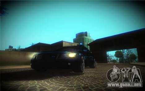 Audi A8L D3 para vista lateral GTA San Andreas