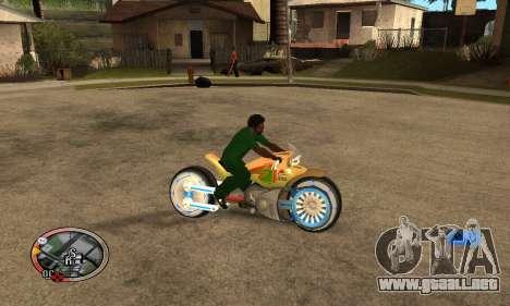 Tadpole Motorcycle para GTA San Andreas vista hacia atrás