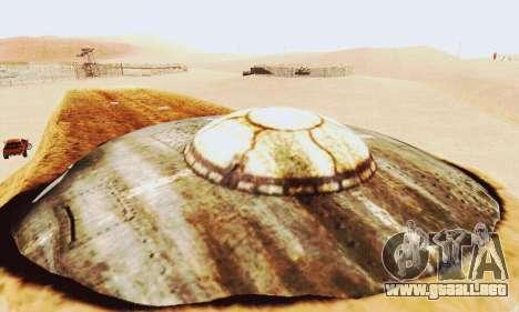 UFO Crash Site para GTA San Andreas sucesivamente de pantalla