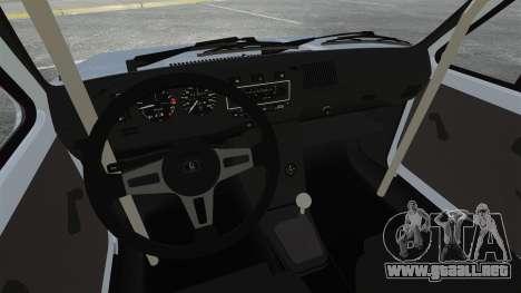 Volkswagen Golf MK1 GTI Update v1 para GTA 4 vista interior