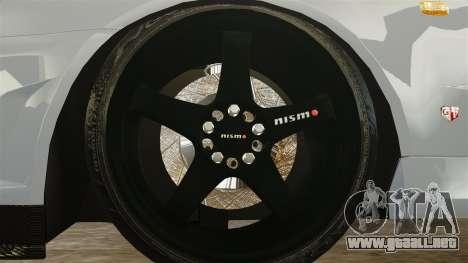 Nissan Skyline R34 para GTA 4 vista hacia atrás