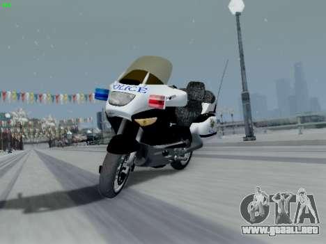 BMW K1200LT Police para vista lateral GTA San Andreas