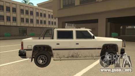 Declasse Rancher FXT para GTA San Andreas vista posterior izquierda