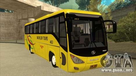 Kinglong XMQ6126Y - Bachelor Tours 463 para GTA San Andreas left