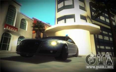 Audi A8L D3 para GTA San Andreas vista hacia atrás