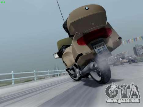 BMW K1200LT para la vista superior GTA San Andreas