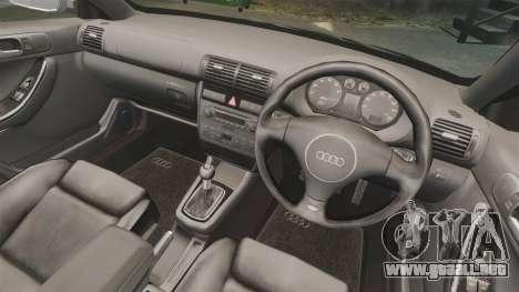 Audi S3 2001 para GTA 4 vista interior