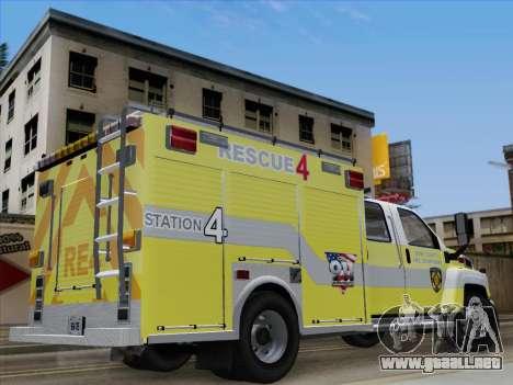 GMC C4500 Topkick BCFD Rescue 4 para visión interna GTA San Andreas