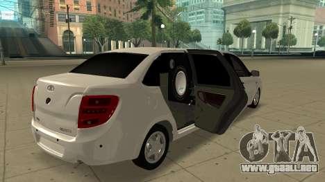 Lada Granta Limousine para GTA San Andreas vista posterior izquierda