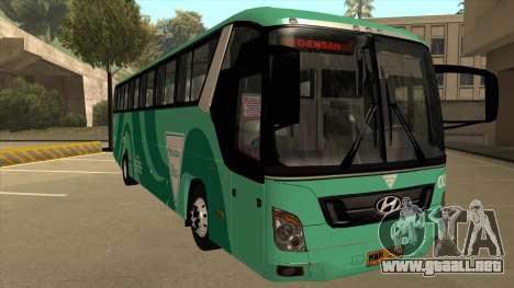 Holiday Bus 03 para GTA San Andreas left