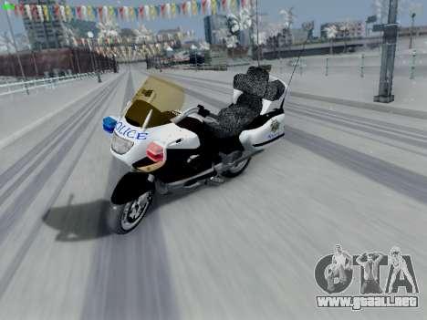 BMW K1200LT Police para GTA San Andreas vista posterior izquierda