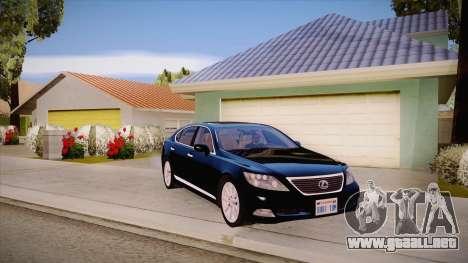 Lexus LS 600h L para visión interna GTA San Andreas