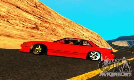 Nissan Silvia S13 HellaDrift para la vista superior GTA San Andreas