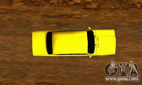 VAZ 2107 VIP para GTA San Andreas vista hacia atrás