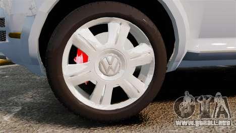 Volkswagen Touareg 2002 para GTA 4 vista hacia atrás