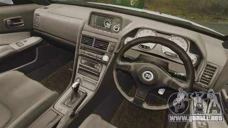 Nissan Skyline R34 para GTA 4 vista lateral