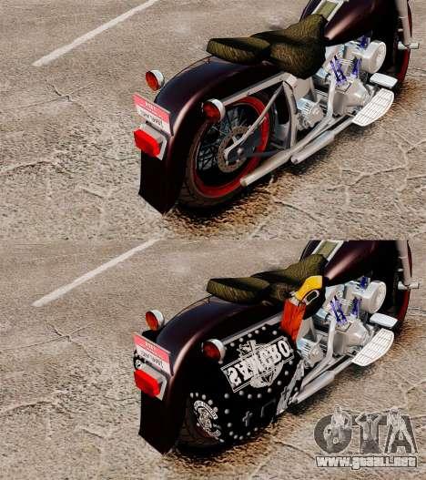 Harley-Davidson para GTA 4 vista hacia atrás