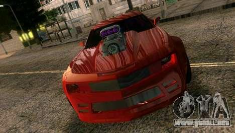 Chevrolet Camaro JR Tuning para GTA Vice City vista interior