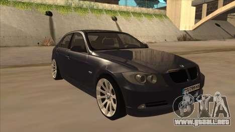 BMW 330 e90 para GTA San Andreas left