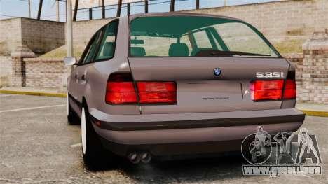 BMW 535 E34 Touring para GTA 4 Vista posterior izquierda
