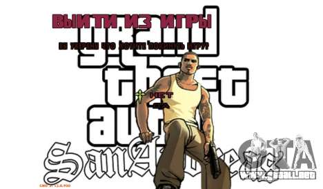 Nuevo menú para GTA San Andreas sexta pantalla