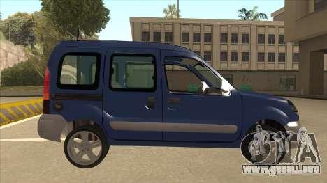 RENAULT KANGOO v2 para GTA San Andreas vista posterior izquierda