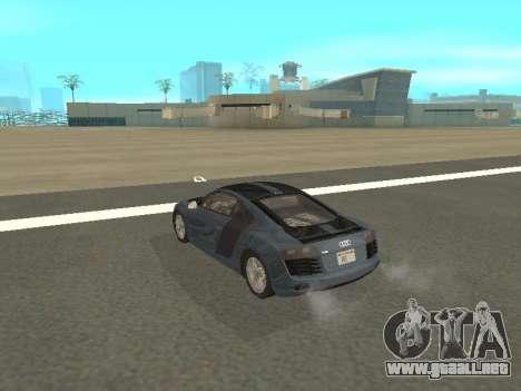 Audi R8 para GTA San Andreas vista hacia atrás