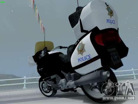 BMW K1200LT Police para visión interna GTA San Andreas