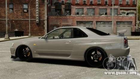 Nissan Skyline R34 para GTA 4 left