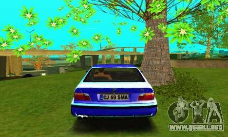 BMW E36 Low and Slow para la visión correcta GTA San Andreas