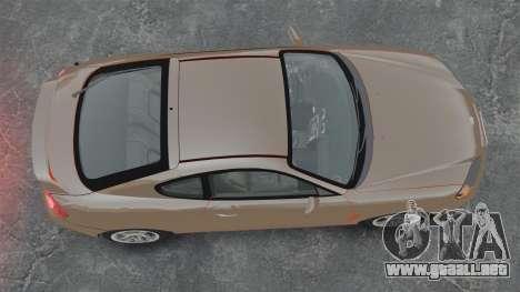 Hyundai Tiburon para GTA 4 visión correcta
